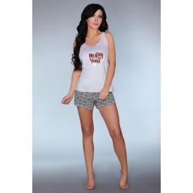 Короткая пижамка Maram с принтом-сердечком