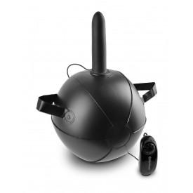 """Мини-мяч с фаллической насадкой телесного цвета и вибрацией Vibrating Mini Sex Ball with 6"""" Dildo - 15,2 см."""
